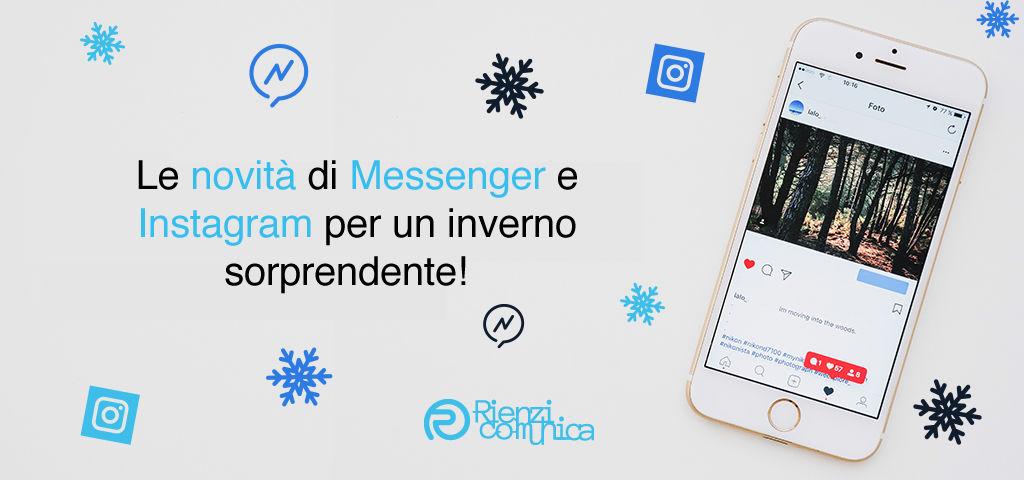 novità di messenger e instagram